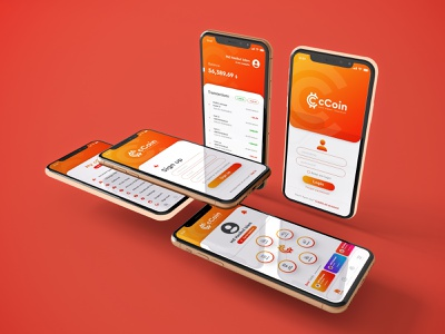 cCoin App UI DESIGN ui design uiux money app money design ux ui branding