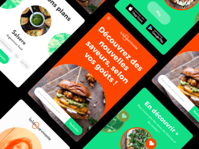Food Blog · La Langue Vivante influencer paris restaurant website logo identity ux ui webdesig foodie blog food