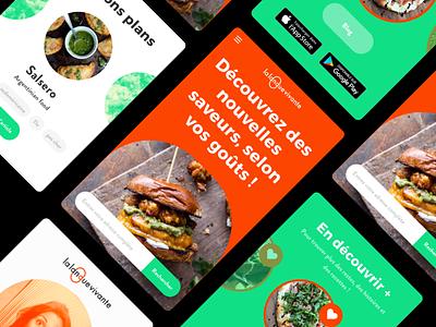 Food Blog · La Langue Vivante influencer paris restaurant website logo identity ux ui webdesig foodie blog food