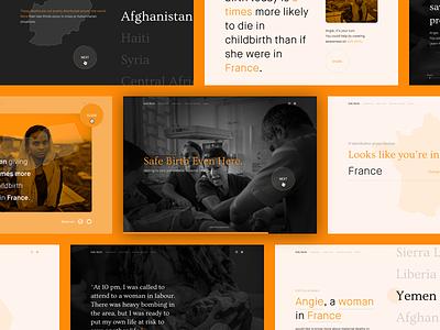 Safe Birth 🤰🏻· UNFPA Website humanitarian campaign website design ux ui webdesign identity ong birth maternity