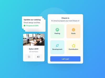 Engagement tools by Zest ui design app mood poll saas application zestdesign zest humanresources work engagement