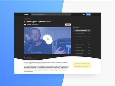 E-learning platform · Free graphic design google sketch free freebie learning app e-learning mobile desktop gradients design app webdesign ui uichallenge