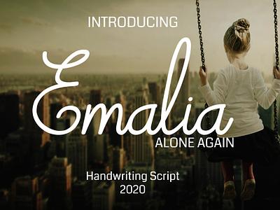 Emalia Handwriting Font handwriting handlettering typography logo illustrator illustration font design font design branding