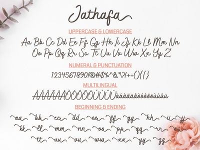 Jathafa - Modern Handwriting Font illustration caligraphy handwriting handlettering illustrator typography font design font design branding