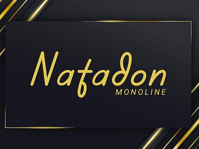 Natadon - Monoline Font logo monoline caligraphy handwriting handlettering typography illustration font design font design branding