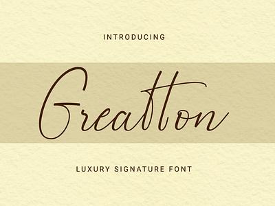 Greatton Font monoline design font caligraphy handwriting signature handlettering typography font design branding