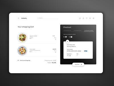 Daily UI :: 002 credit card Checkout ui design challenge branding ui design ui minimal web design design