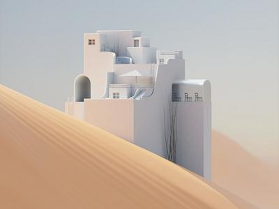 Messing with architectural shapes render design arnold digitalart art modelling cinema4d 3d