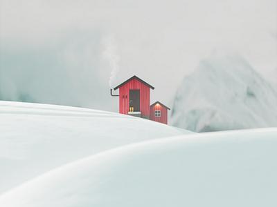 S H E L T E R shelter snow architecture design render 3dmodel cinema4d