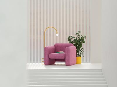 Somewhere nowhere design books render architecture interiordesign cinema4d