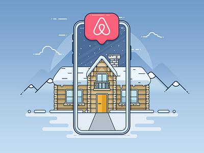 Airbnb Integration Plugin airbnb accommodation booking rental wordpress illustration outline plugin real estate