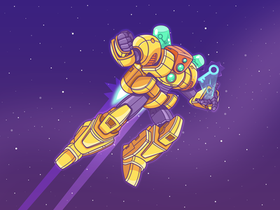 KE Robot 2 fantastic illustration space fly key bot robot explorer keyword seo analysis