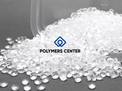 """Branding for """"Polymer Center"""" logo branding graphic design"""