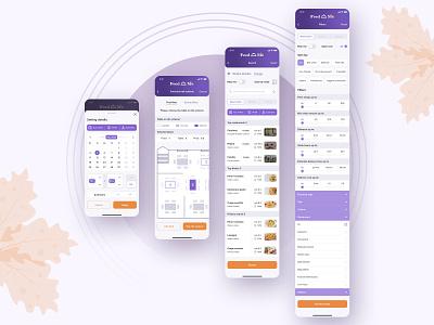 FeedMe - mobile restaurant app UI/UX ui  ux ux ui table reservation table booking restaurant mobile app food delivery design app design