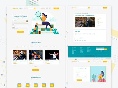 Events website concept uidesignpatterns ui design website concept website design webdesign uidesign uiux