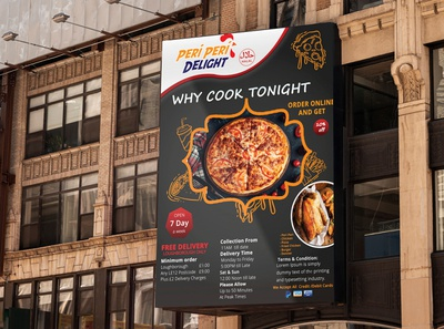 Peri Peri Food Poster illustrator cc adobe indesign ui ux graphic design branding poster designer poster design poster flyer designs flyer design template food flyer flyer design flyer