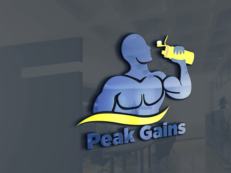 Peak Gains minimal illustrator illustration design logo designer icon flat vector logo design graphic logo