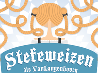 Stefeweizen Beer Label