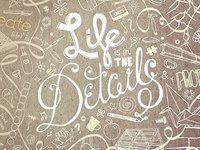 Life is in the Details Screen Printed Poster