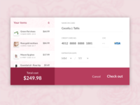 Daily Ui :: 002 :: Credit Card Check Out