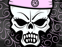 Dribbble Rollin' Skull