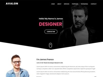 Avalon- Personal Portfolio HTML Template design modern minimal bootstrap portfolio onepage personal creative responsive html template
