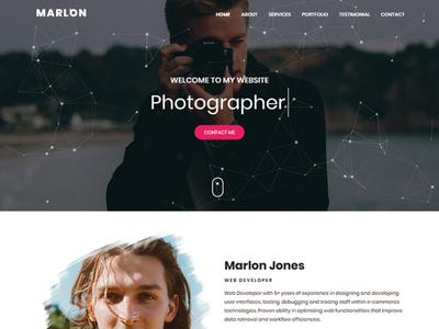 Marlon - Personal Portfolio HTML Landing Page Template clean css3 minimal portfolio html5 bootstrap creative onepage responsive html template