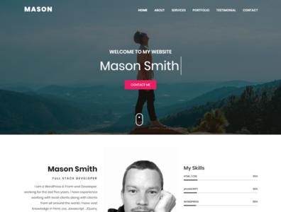MASON   Personal Portfolio HTML Template personal freelancer onepage responsive design design html5 css3 creative design website design html template portfolio