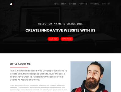 Alo - Personal portfolio template ux freelancer minimal responsive onepage modern creative bootstrap css3 html5 template web design html template portfolio personal