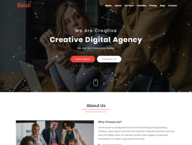 DULALI   One Page Multipurpose Template design html template css3 html5 corporate html finance company startup agency multipurpose parallax one page modern creative business bootstrap clean responsive