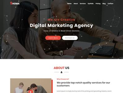 SHOMA - One Page HTML Business Template freelancer minimal responsive onepage modern creative bootstrap css3 html5 template web design html template portfolio personal