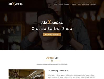 Alexandra - Barber Shop HTML Template personal bootstrap html template physiotherapy barbershop hair salon wellness care massage spa yoga beauty unique health medical responsive