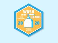 Wash Your Hands Winner Badge