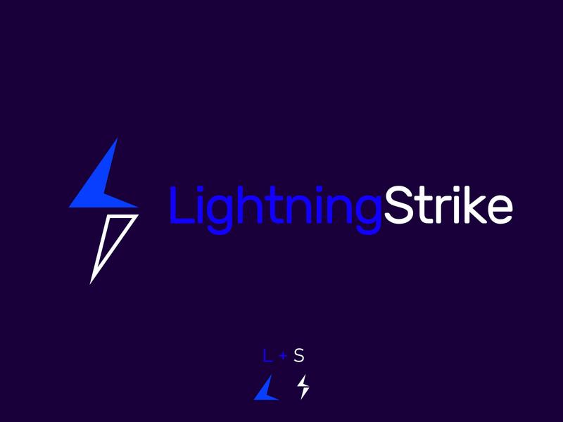 LightningStrike Logo lightning bolt lightning vector design branding vector illustration logo