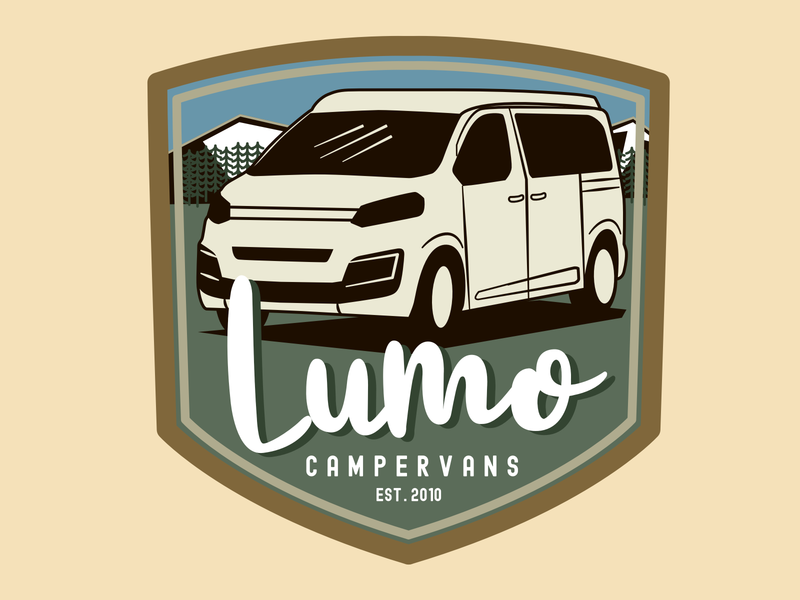 Lumo Campervans Badge badge campervan camper vector illustration illustration vector