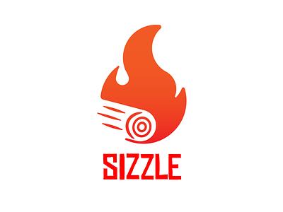 Daily Logo Challenge #10 : Sizzle logo art illustrator design branding logo design vector illustration illustration vector wood woodfire firecamp fire