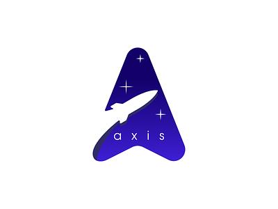 Daily Logo Challenge #1 : Axis daily logo challenge branding logotype logo design logo rocketship stars space rocket logo rocket