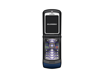Motorola Razr V3i design vector vector illustration illustration 2000s clamshell phone phone motorola