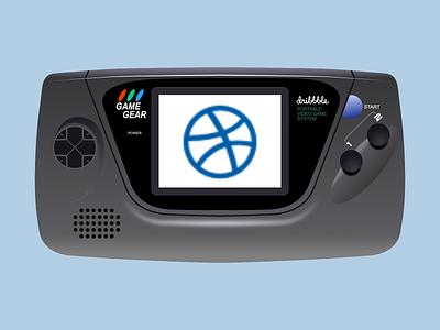 SEGA Game Gear art illustration video games oldies sega games handheld video game videogame