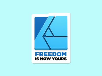 Freedom Is Now Yours Affinity Sticker vector illustration design vector sticker art affinity serif affinity designer freedom sticker mule sticker design sticker