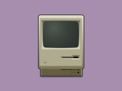 Classic Macintosh vector art gradient art vector illustration illustration illustrator vector oldies apple design design classic computer apple macintosh mac