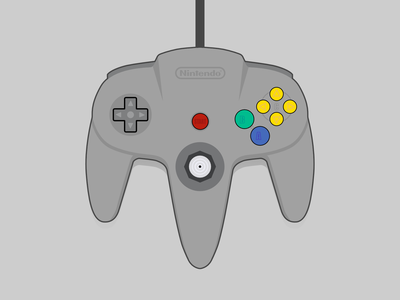 Nintendo 64 Controller 64 bit zelda mario controller video game nintendo 64 nintendo vector illustration vector illustration