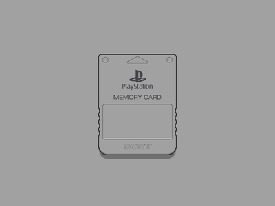 Playstation Memory Card simple illustration flat design memory card sony vector illustration playstation childhood memories vector art illustration illustrator vector