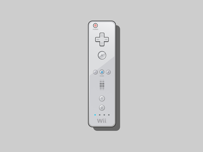 Nintendo Wiimote illustration vector illustration motion gaming video games vector art vectorart vector wii wiimote nintendo wii nintendo