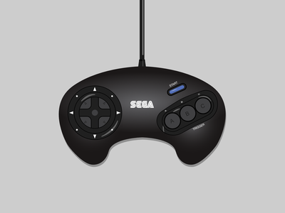 Sega Genesis/Megadrive Controller affinity designer vector vector illustration illustration vector art controller game controller sega genesis megadrive genesis sega