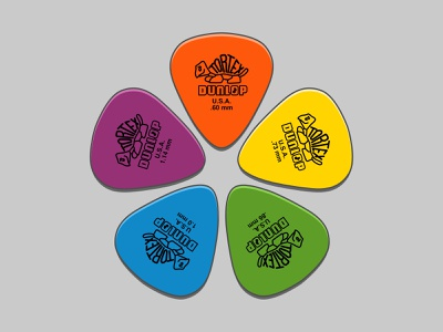 Tortex Picks vector artwork vector artist affinity designer design vector illustration vector illustration guitar pick vector art guitar picks guitar picks