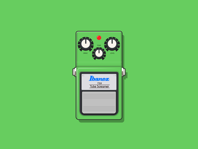 Ibanez Tube Screamer Pedal guitars music art vector artist vector art vector ibanez guitarist pedals guitar pedals guitar pedal guitar playing