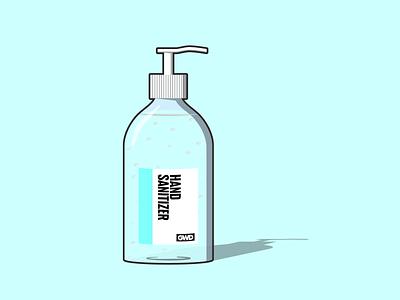 Hand Sanitizer Bottle affinity designer design illustration illustration art vector vector illustration vector art bottle gel hand sanitizer covid-19 covid19