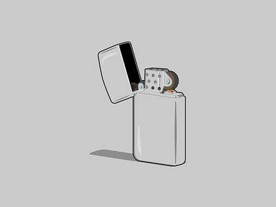 Zippo Lighter design affinity designer illustration illustration art vector art vector illustration vectorart vector zippo lighter
