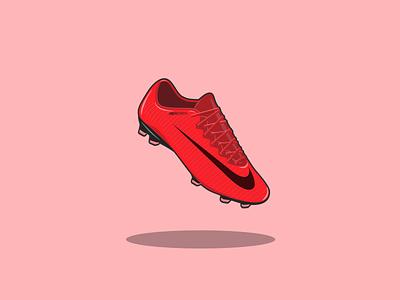 Soccer shoe illustration vector art vector vector illustration mercurial nike nike shoes foot illustration footwear football soccer
